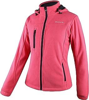 Women's Fleece Jacket Full Zip Hoodie with Detachable Hood