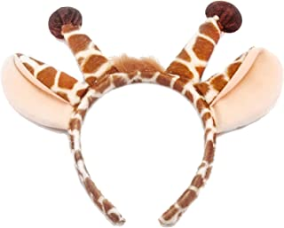 elope Giraffe Ears Headband and Tail Kit for Kids and Adults
