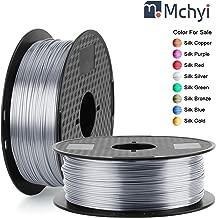 Silk Silver PLA Filament 1.75mm, MCHYI Silk Shiny 3D Printer Filament, 1kg 1 Spool