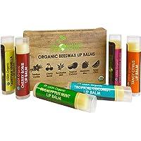 6 Pack Sky Organics USDA Organic Lip Balm for Adults and Kids Lip Repair