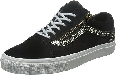 Amazon.com: Vans Old Skool Zip Gold Dots Hombre 7/Mujeres 8.5 ...