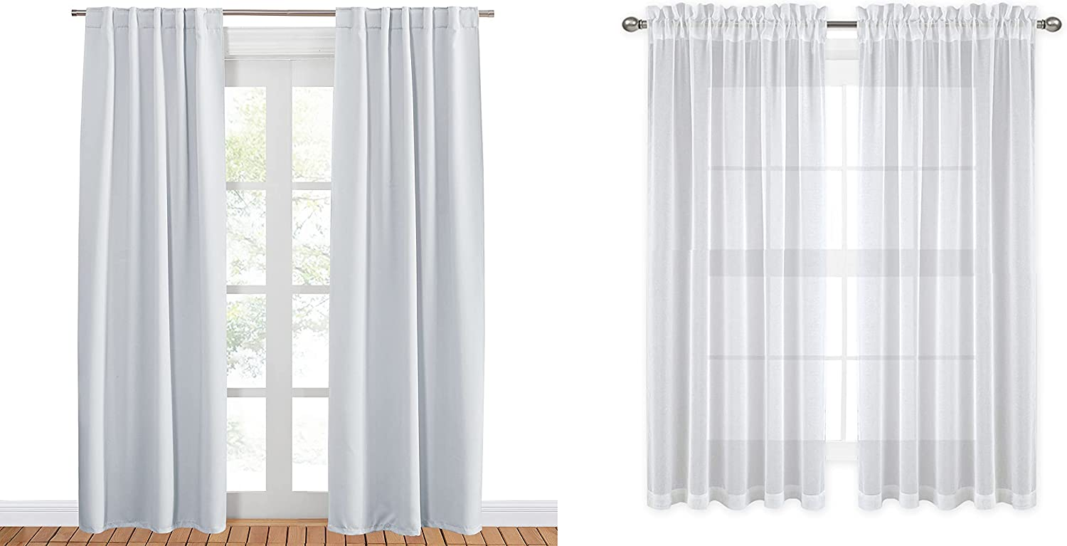 PONY Topics on TV DANCE White Sheer Free shipping with Blackout Curtains Bun