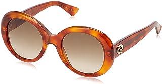 غوتشي نظارة شمسية نمط دائري للنساء , بني , GG0139S-002-51