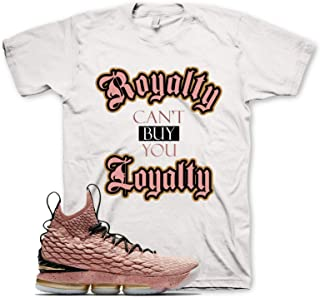 White ROYALTY T Shirt for Nike Lebron 15 Hollywood All Star Rust Pink Gold