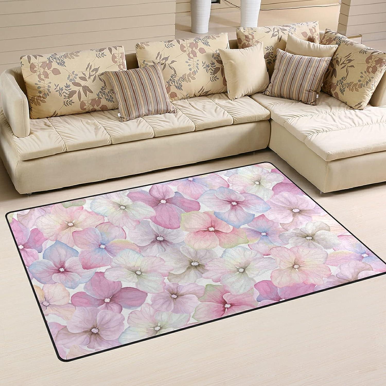 Popular brand Vintage Watercolor Flowers Large Soft Area Playmat Overseas parallel import regular item Rugs Nursery