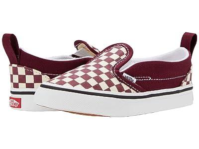 Vans Kids Slip-On V (Infant/Toddler) ((Checkerboard) Port Royale/True White) Boys Shoes