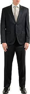 Hugo Boss Johnstons1/Lenon Men's 100% Wool Charcoal Two Button Suit SZ US 46L IT 56L