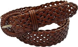 Fashion Leather Woven Braided Belts Women's Jean Belt