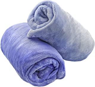 Cozy Fleece Inc.- Microplush Fitted Crib Sheet (2) Pale Blue and Dark Blue