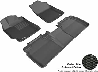 3D MAXpider Complete Set Custom Fit All-Weather Floor Mat for Select Toyota Camry/ Camry Hybrid Models - Kagu Rubber (Black)