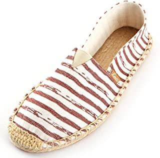 Kentti Men's Breathable Canvas Stripe Slip on Flat Espadrilles