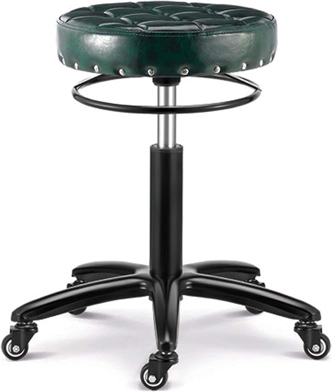 Lift Bar Chair Makeup Stool Round Stool redate Bar Stool Hairdressing Stool Metal Stool Modern High Stool Simple Corner Stool,F