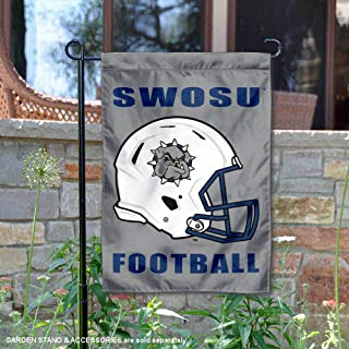 College Flags and Banners Co. Southwestern Oklahoma State University Football Helmet Garden Flag