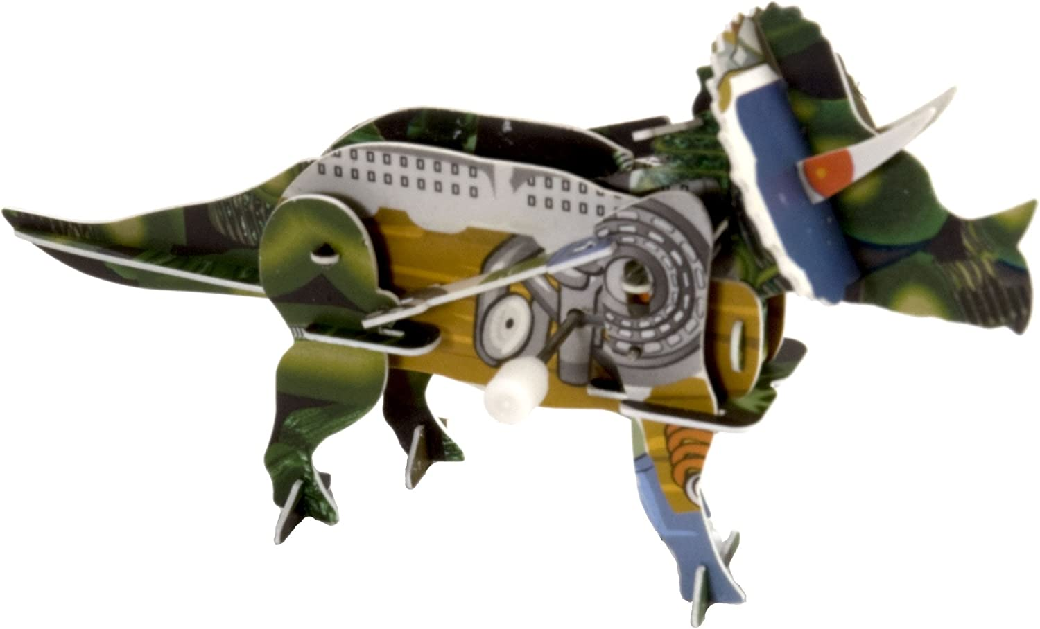 Wild Republic build-it 3D wind-ups Triceratops Model Kit