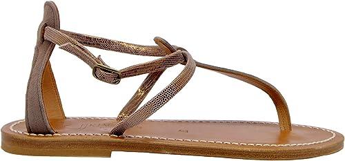 K.JACQUES BUFFONDISCOBRONZO Damen Bronze Leder Sandalen