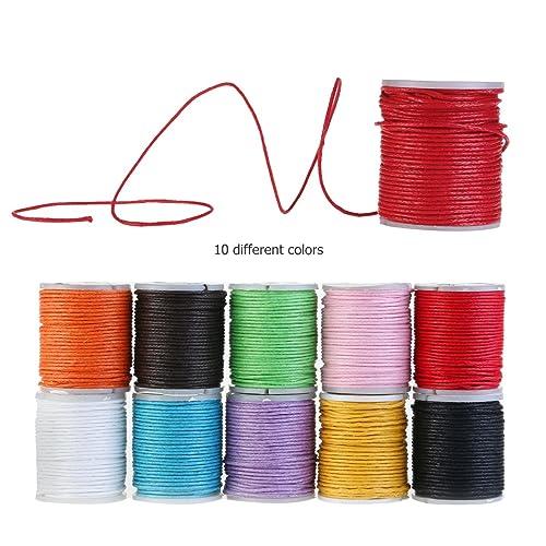 WINOMO Corde cire Cordons pour Bracelet Bijoux bricolage Artisanat faire 10pcs