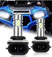 LED Headlights Bulbs for Polaris Ranger 400 500 700 800 RZR 570 Headlamp Bulbs, 50W 8000K 881 Headlight