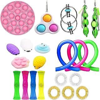 Sensory Toys Set,21 pcs Fidget Toys set, Relieve Stress and Anxiety Fidget Toy, Finger Sensory Toys Sets, Dimple Fidget To...