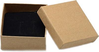 my cat 12 Piezas 7x7x3.5cm Juego de Joyas de cartón Negro Cajas ...
