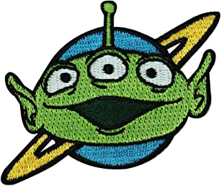 Toy Story Green Alien Iron On Patch Disney Pixar Movie Character Craft Applique