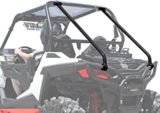 SuperATV Heavy Duty Rear Roll Cage Support for Polaris RZR 900 Trail / 900 XC / 900 S - Wrinkle Black
