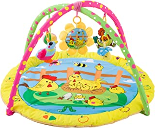 yotijay Baby Play Mat Visual Colorful Blanket Crawling with Music and Rattles Hearing Development Playmat Baby mat Game Pa...