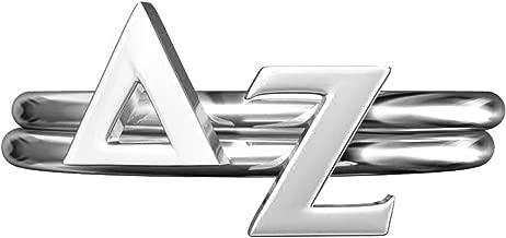 A-List Greek Delta Zeta Sorority Stack Rings