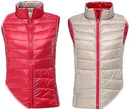 Ablaze Jin Winter Warm Vests Ultra Light Down Vest Women Double Side Sleeveless Jacket Reversible Plus Size