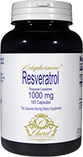 Pure Resveratrol 1000mg - Antioxidant Supplement from Grape Seed Extract - Part of Polyphenol Family - Trans Resveratrol S...