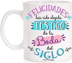 MardeTé Taza Felicidades has Sido elegida Testigo de la Boda del Siglo. Taza Novios, Novias, testigos, Boda del Siglo.