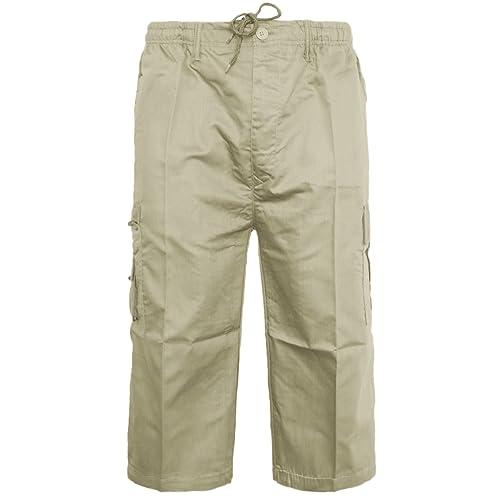Mens  Shorts Cotton Summer Casual Cargo Combat Half Pants 3 quarter  Casual New