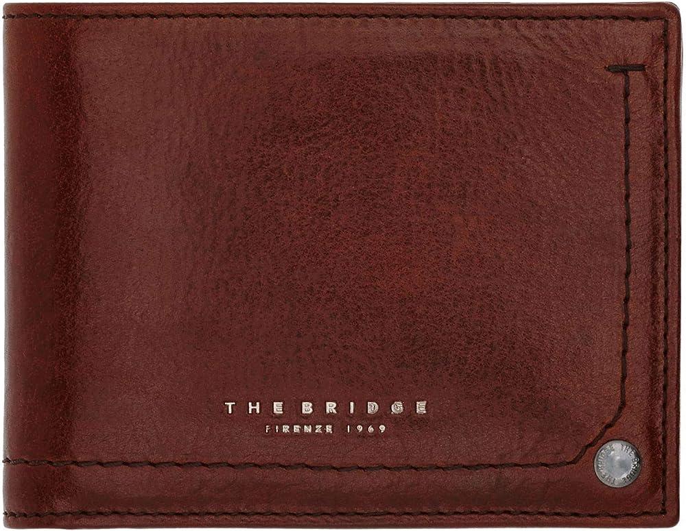 The bridge kallio, portafoglio da uomo, porta carte di credito, in vera pelle 01470701-1A