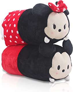 Finex - Set of 2 - Mickey Mouse and Minnie Mouse Plush Pillow Stackable Long Cushion