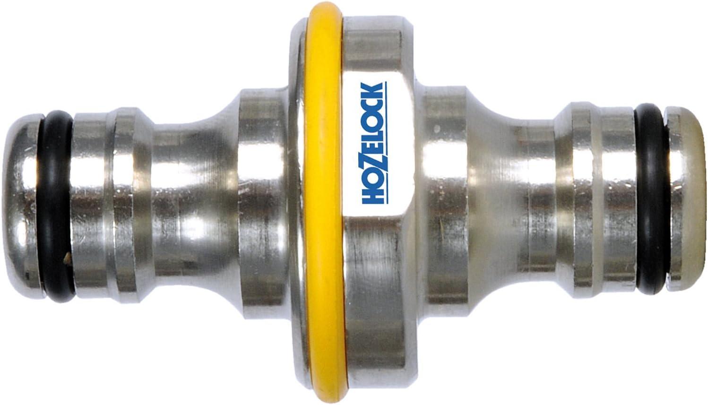 Hozelock - Conector metálico universal doble para manguera de riego