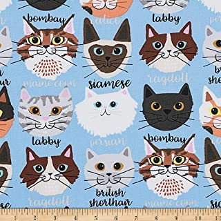 Alexander Henry s Calico and Company Fabric, Light Blue, Fabric By The Yard