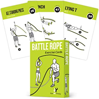 Battle Rope Exercise Cards, Set of 62 - with Guided...