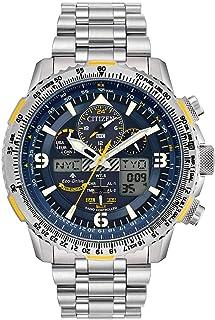 ساعة سيتيزن ايكو درايف بروماستر ازرق ازرق ازرق كرونوغراف ايه- تي تيتانيوم JY8101-52L