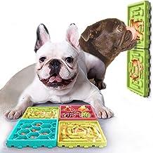 USWT 4Pcs Dog Feeding Pad Set, 2pcs Dog Slow Feeder and 2 pcs Lick Pad Combo with Suction Cup