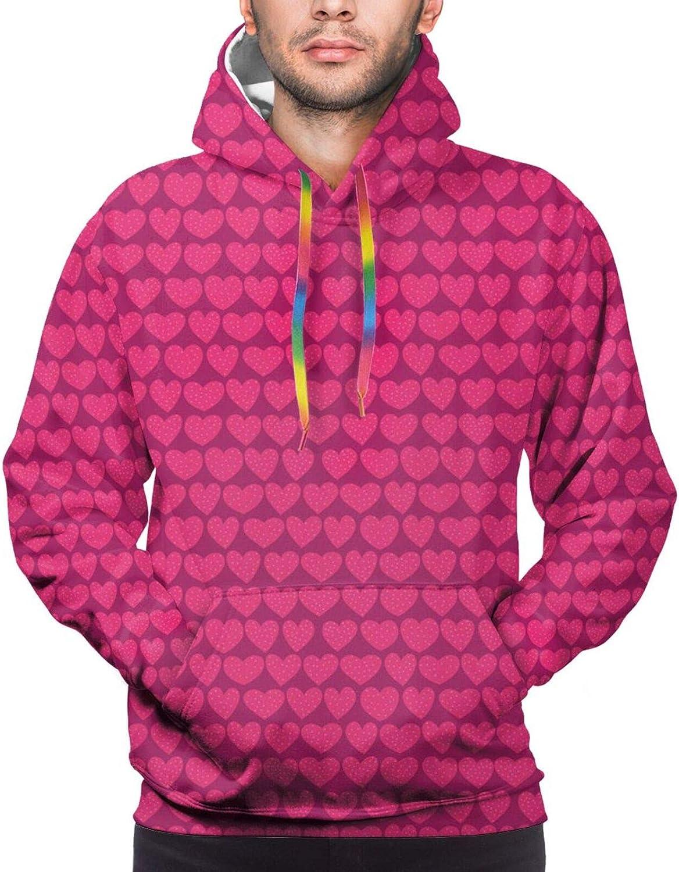 Men's Hoodies Sweatshirts,Repeating Summer Beach and Ocean Fun Item Colorful Surfboards Pattern
