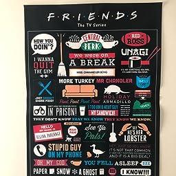 Friends TV Show Art Silk Poster Canvas Print