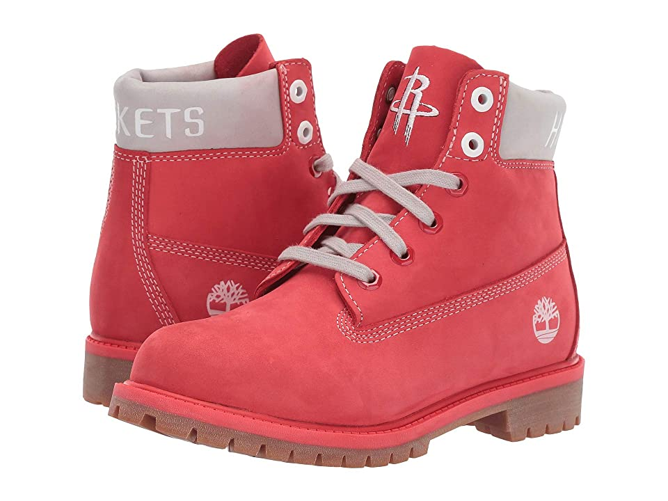 Timberland Kids Houston Rockets 6 Premium Boot (Big Kid) (Medium Red Nubuck) Boys Shoes