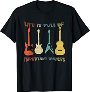 Vintage Guitar T-Shirt Acoustic and Electric Guitar Gift Men