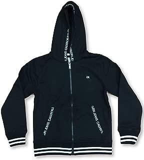 CK Jeans Girl's Full Zip Hoodie Black