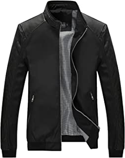 Men's Color Block Slim Casual Thin Lightweight Bomber Jacket