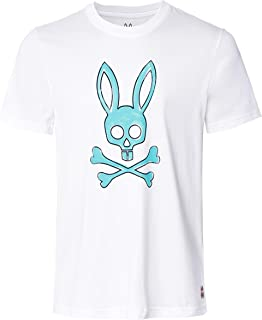 Psycho Bunny Men's Pima Cotton Sherwood T-Shirt White