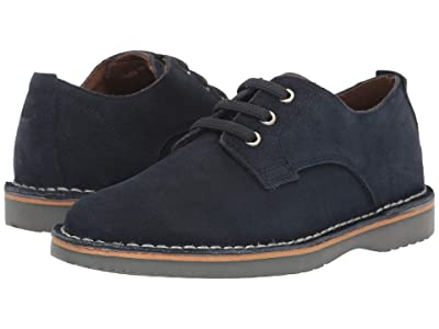 Florsheim Kids Navigator Plain Toe Oxford Jr. (Toddler/Little Kid/Big Kid) (Navy Suede) Boy
