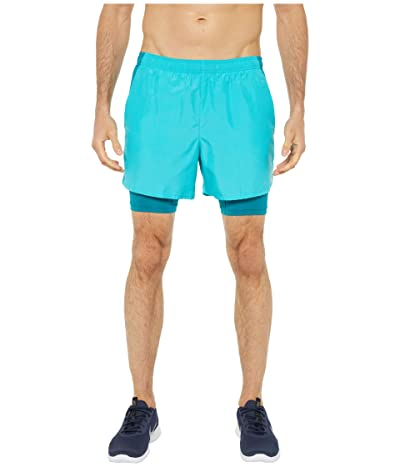 Nike Challenger Shorts 5 2-in-1 (Oracle Aqua/Reflective Silver) Men