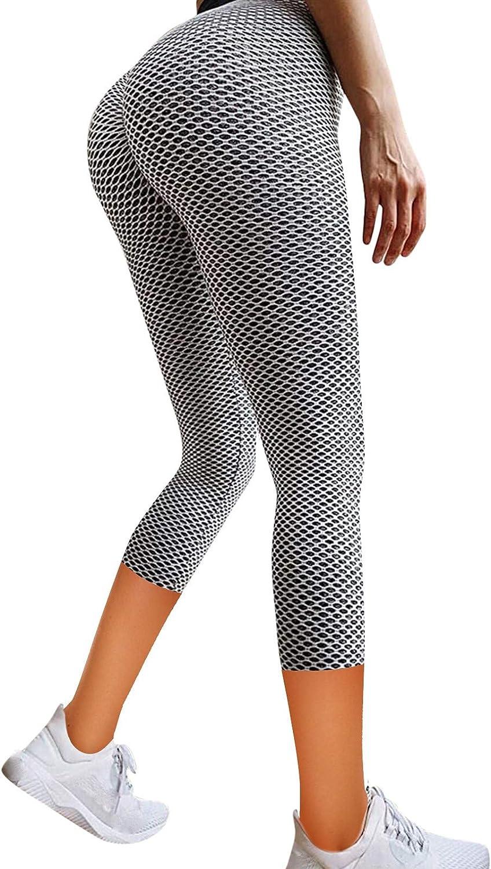 MASZONE Famous Leggings, Women High Waisted Yoga Pants Workout Tummy Control Leggings Bubble Hip Booty Tights