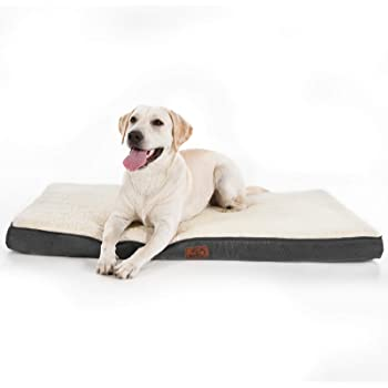 Bedsure Large Orthopedic Foam Dog Bed for Small, Medium, Large and Extra Large Dogs/Cats Up to 50/75/100lbs - Orthopedic Egg-Crate Foam with Removable Washable Cover - Water-Resistant Pet Mat