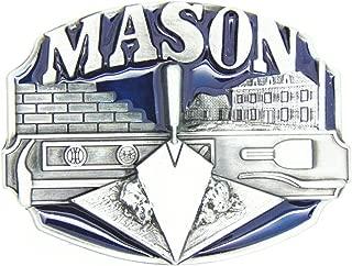 KeCol Adult Mens Masons Freemason Masonic Compass Belt Buckle